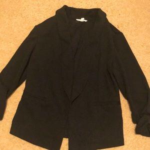 NWOT Maurices Black 3/4 Length Sleeve Jacket
